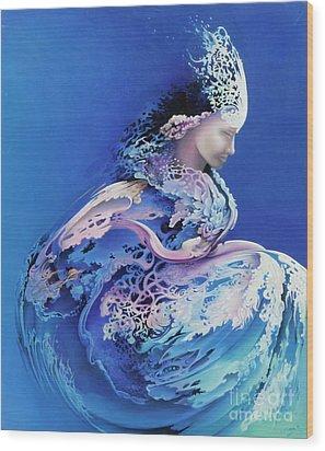 Sirenetta Wood Print by Symona Colina