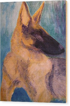 Wood Print featuring the painting Sirius Canis Major by Barbara Giordano