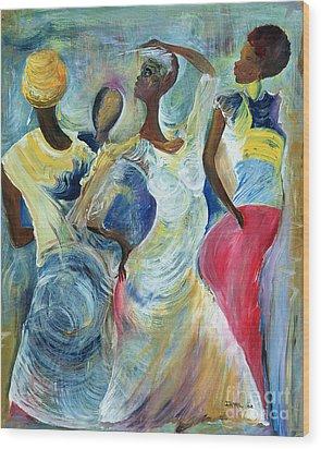 Sister Act Wood Print by Ikahl Beckford