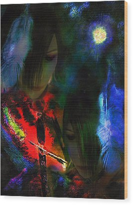 Sister Honoured Wood Print by Michelle Dick
