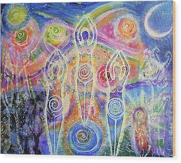 Sisterhood Of The Divine Feminine Wood Print by Lila Violet