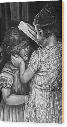 Sisters Wood Print by Curtis James
