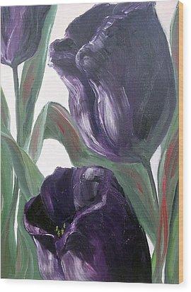 Sisters Wood Print by Diane Daigle