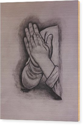 Sisters' Hands Wood Print by Christy Saunders Church