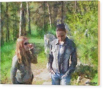 Sisters Wood Print by Jeffrey Kolker