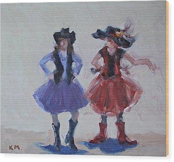 Sisters Wood Print by Karen McLain
