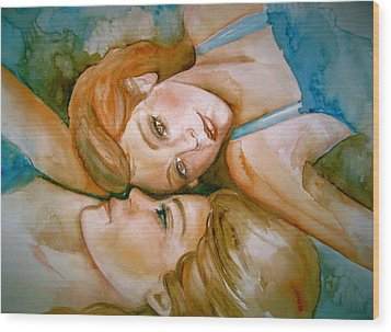 Sisters Wood Print by L Lauter