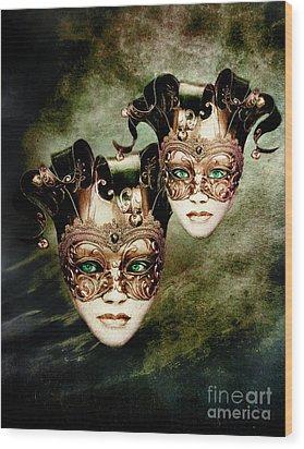 Sisters Wood Print by Jacky Gerritsen