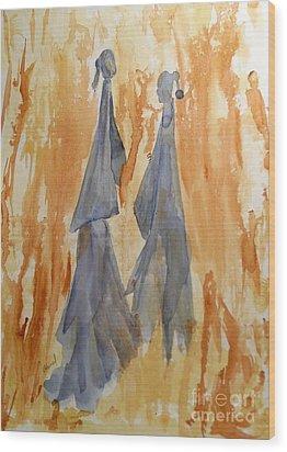 Sisters Wood Print by Vicki  Housel