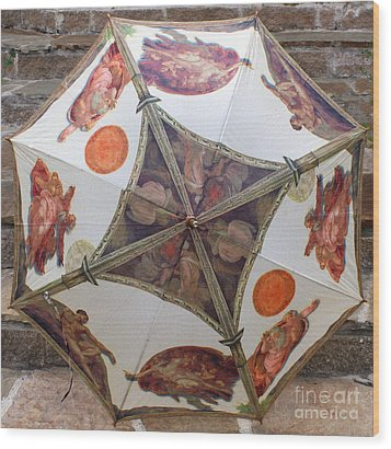 Sistine Chapel Umbrella Wood Print