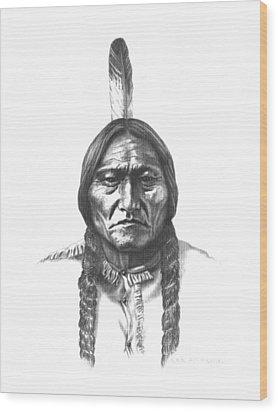 Sitting Bull Wood Print by Lee Updike