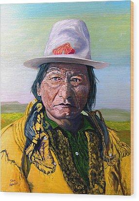 Sitting Bull Wood Print