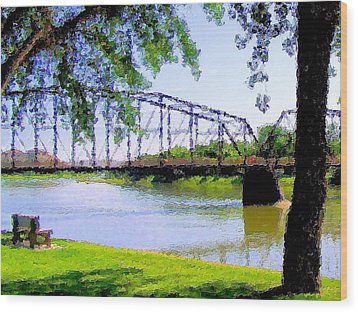 Wood Print featuring the photograph Sitting In Fort Benton by Susan Kinney