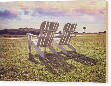 Wood Print featuring the photograph Sitting In The Sun by Debra and Dave Vanderlaan
