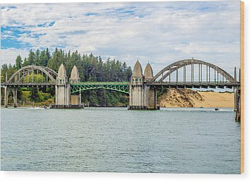 Siuslaw River Draw Bridge  Wood Print by Dennis Bucklin