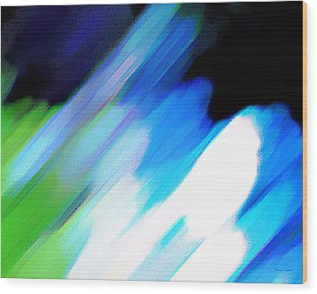 Sivilia 10 Abstract Wood Print by Donna Corless