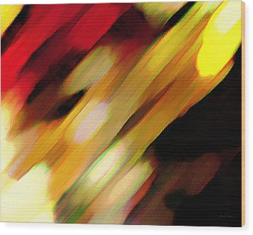 Sivilia 11 Abstract Wood Print by Donna Corless