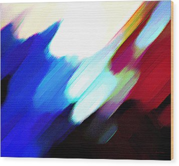 Sivilia 12 Abstract Wood Print by Donna Corless