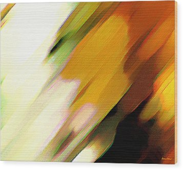 Sivilia 2 Abstract Wood Print by Donna Corless