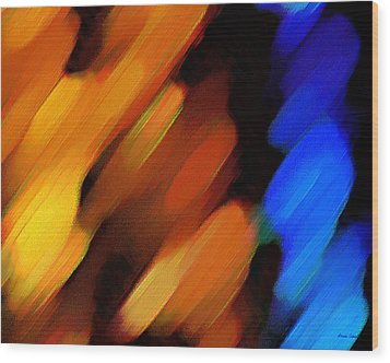 Sivilia 3 Abstract Wood Print by Donna Corless