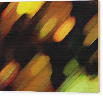 Sivilia 6 Abstract Wood Print by Donna Corless