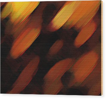 Sivilia 7 Abstract Wood Print by Donna Corless