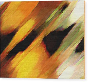 Sivilia 8 Abstract Wood Print by Donna Corless