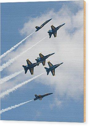 Six Angels Wood Print by Alan Raasch