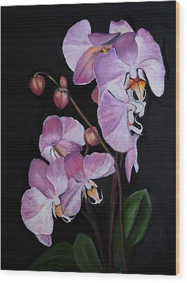Six Orchids Wood Print