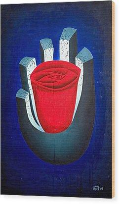 six Wood Print by Poul Costinsky