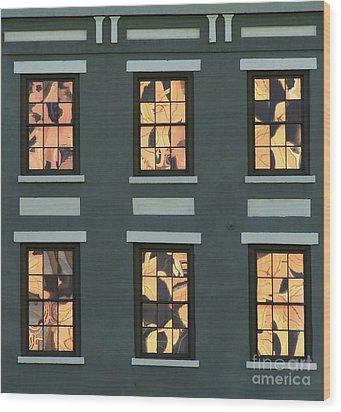 Six Reflections Wood Print