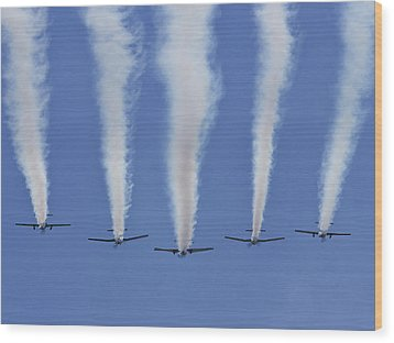 Wood Print featuring the photograph Six Roolettes In Formation by Miroslava Jurcik