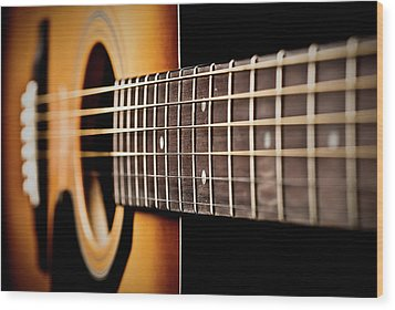Six String Guitar Wood Print