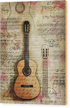 Six String Sages Wood Print by Gary Bodnar