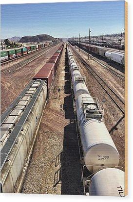 Six Trains Wood Print