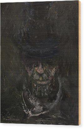 Sixteen  Wood Print by Antonio Ortiz