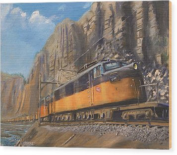 Sixteen Mile Canyon Wood Print by Christopher Jenkins