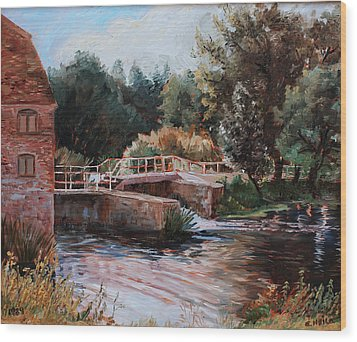Sixtenth Century Watermill In Sturminster Newton Dorset England Wood Print by Ethel Vrana