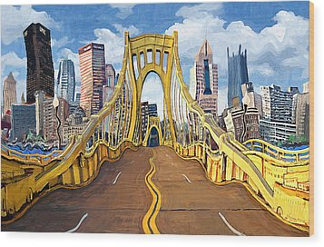 Sixth Street Bridge, Pittsburgh Wood Print