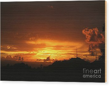Wood Print featuring the photograph Sizzling Sunset by The Art of Alice Terrill