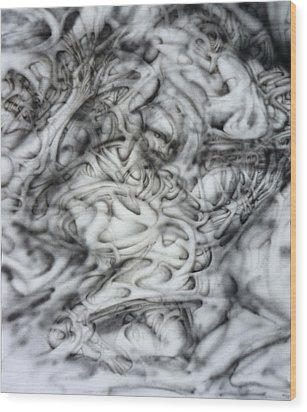 Skab Wood Print by David Frantz