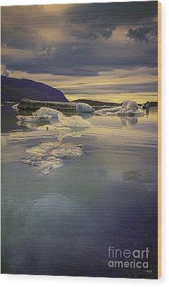 Wood Print featuring the photograph Skaftafellsjokull Lagoon by Nancy Dempsey