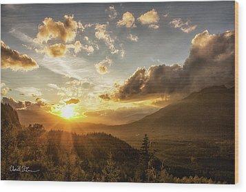 Skagit Valley Sunset Wood Print