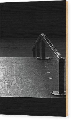 Wood Print featuring the photograph Skateboard Ramp II by Richard Rizzo