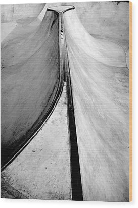 Skateboarding Wood Print by Kenneth Carpenter