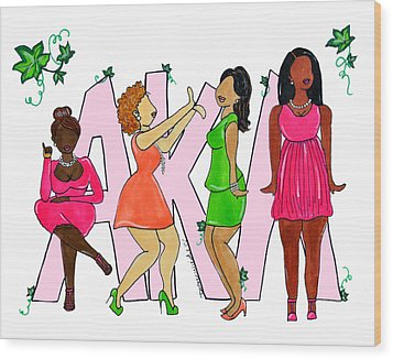 Skee Wee My Soror Wood Print by Diamin Nicole