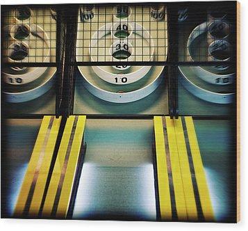 Wood Print featuring the photograph Skeeball Arcade Photography by Melanie Alexandra Price