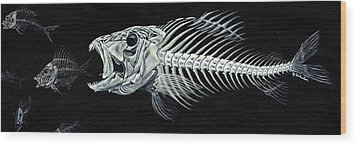 Skeletail Wood Print by JoAnn Wheeler