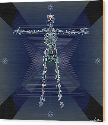 Wood Print featuring the digital art Skeletal System by Iowan Stone-Flowers