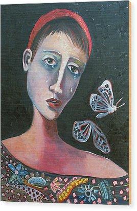 Skeleton Butterfly Wood Print by Niki Sands